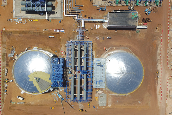 Finalización del diseño, fabricación y montaje de los tanques de sales y agua en la Planta termo solar de KATHU (Sudáfrica)
