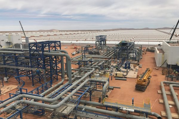 Completion of prefabrication and pipe assembly works at the Ilanga solar thermal power plant.